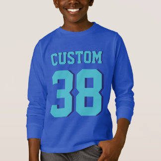 Blue & Turquoise Kids | Sports Football Jersey T-Shirt