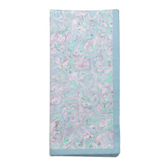 Blue Turquoise Purple White Marble Effect Pattern Napkin