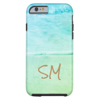 Blue & Turquoise Tropical Beach View - Tough iPhone 6 Case