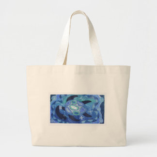 BLUE TURTLE LARGE TOTE BAG
