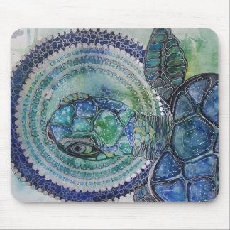 Blue turtle mouse mat