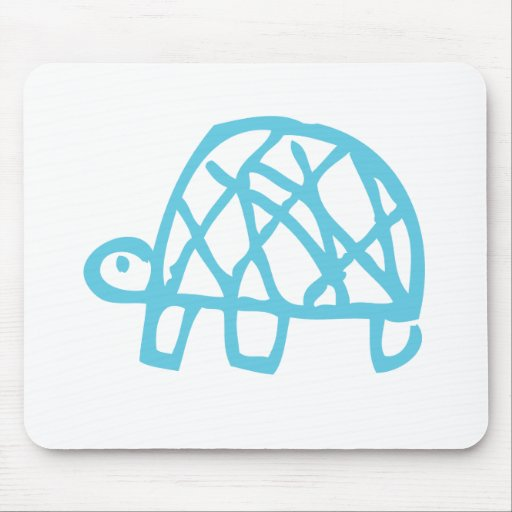 Blue Turtle Mouse Pads