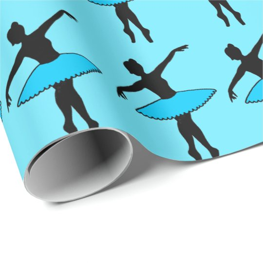 Blue Tutu Ballet Dance Dancer Ballerina Gift Wrap