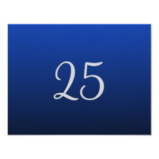 Blue Twenty Fifth Anniversary Invitations