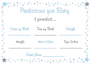 Baby Prediction Baby Advice Cards | Zazzle UK