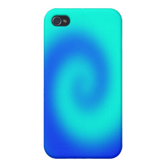 Blue Twirl I-pod Touch Case iPhone 4/4S Covers