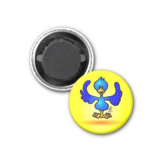 Blue Twitter Bird 3 Cm Round Magnet