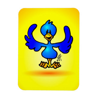 Blue Twitter Bird Rectangular Photo Magnet