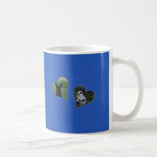 Blue Two Heart Add Photo Frame Mug