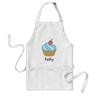 Blue Two Tone Cupcake Apron