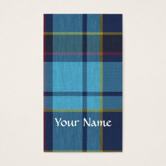 Blue U.S.A.F tartan pattern Business Card