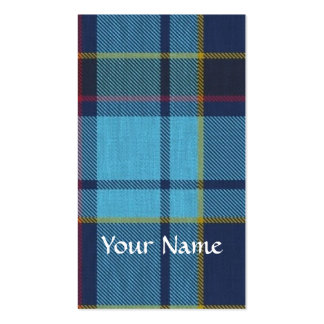 Blue U.S.A.F tartan pattern Pack Of Standard Business Cards