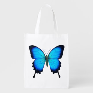 Blue Ulysses Butterfly Grocery Tote Bag