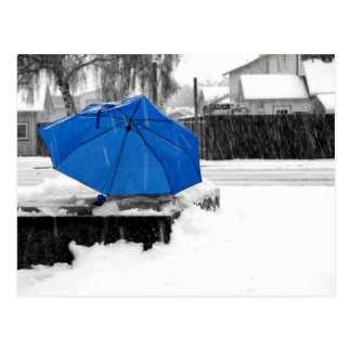 Blue Umbrella Postcard