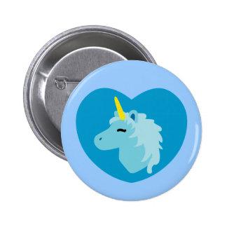 Blue Unicorn 6 Cm Round Badge