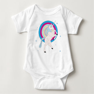 Blue Unicorn Baby Bodysuit