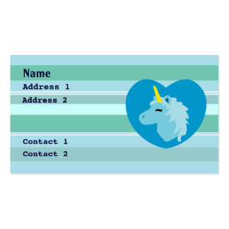 Blue Unicorn Business Cards Standard Business Cards