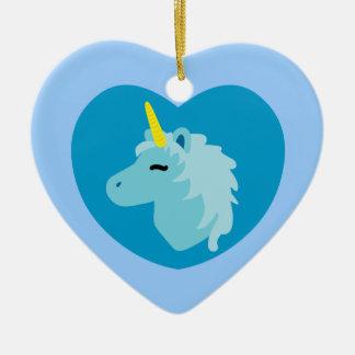 Blue Unicorn Christmas Ornament