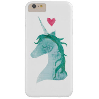Blue Unicorn Magic with Heart Barely There iPhone 6 Plus Case