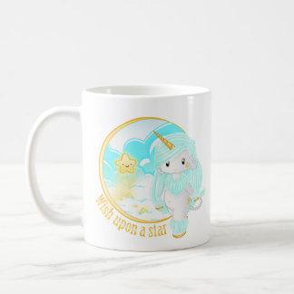 Blue Unicorn Po Basic White Mug