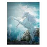 blue unicorn postcards