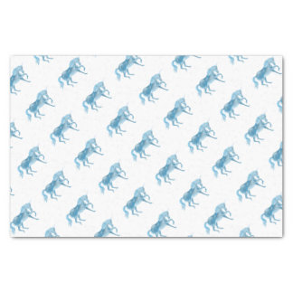 Blue Unicorn Tissue Paper