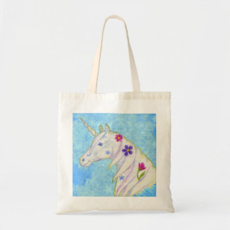 Blue Unicorn tote bag