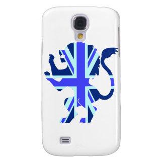 Blue Union Jack Lion Samsung Galaxy S4 Covers