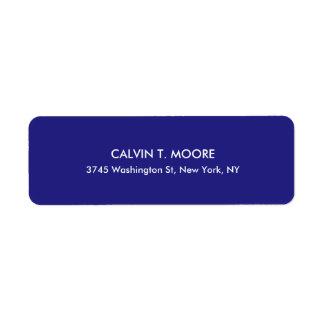 Blue Unique Special Professional Return Address Label