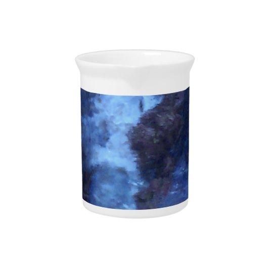 "BLUE UNIVERSE ABSTRACT"" MUG PITCHER"