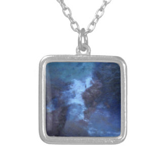 """BLUE UNIVERSe ABSTRACT"""" PENDANT NECKLACE"""