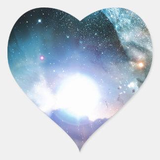 Blue Universe Cosmos Heart Sticker