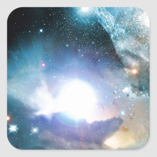 Blue Universe Cosmos Square Sticker