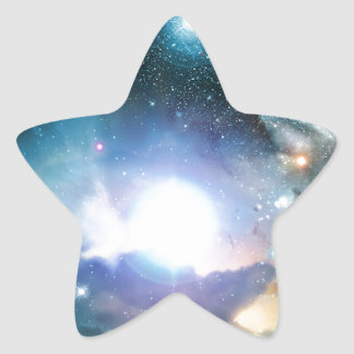 Blue Universe Cosmos Star Sticker