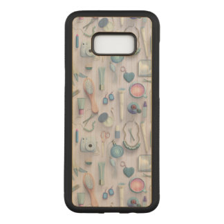 Blue Vanity Table Carved Samsung Galaxy S8+ Case