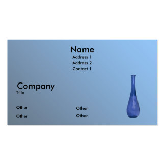 Blue Vase Business Card Templates