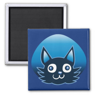 blue vector cat cartoon style graphic illustration magnet