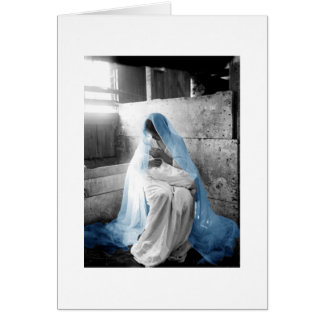 Blue Veil Mother Mary & Child Card