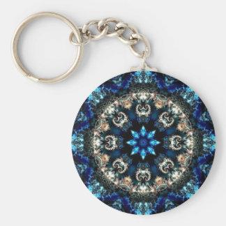 Blue Velvet Basic Round Button Key Ring