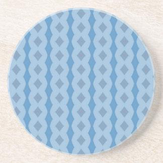 Blue vertical pattern coaster