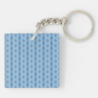 Blue vertical pattern acrylic key chain