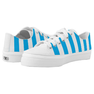Blue Vertical Stripes Printed Shoes