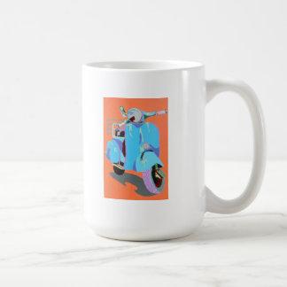 Blue Vespa Coffee Mug