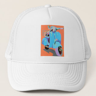 Blue Vespa Trucker Hat