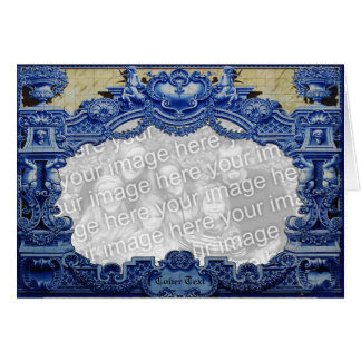 Blue Victorian Greeting Card