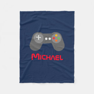 Blue Video Game Controller Fleece Blanket