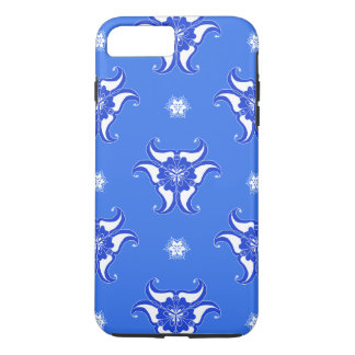 blue vintage abstract pattern design phone case