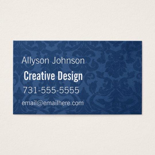 Blue Vintage Background Business Cards