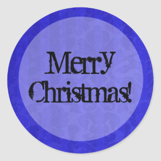 Blue Vintage background Merry Christmas Stickers