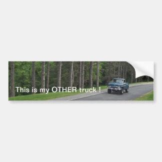 Blue vintage classic antique pickup truck bumper sticker